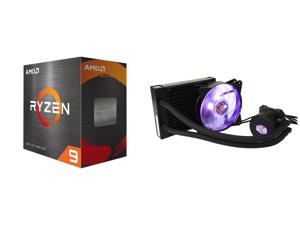 AMD Ryzen 9 5950X - Ryzen 9 5000 Series Vermeer (Zen 3) 16-Core 3.4 GHz Socket AM4 105W Desktop Processor - 100-100000059WOF and Cooler Master MasterLiquid ML120L RGB Close-Loop CPU Liquid Cooler 120mm Radiator Dual Chamber RGB Pump Dual MF