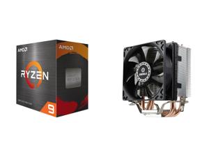 AMD Ryzen 9 5950X - Ryzen 9 5000 Series Vermeer (Zen 3) 16-Core 3.4 GHz Socket AM4 105W Desktop Processor - 100-100000059WOF and Enermax ETS-N31 CPU Air Cooler 130W+ TDP 3 Direct Contact Heat Pipes 92mm Fan AMD Ryzen / Intel LGA 1200/1151 E