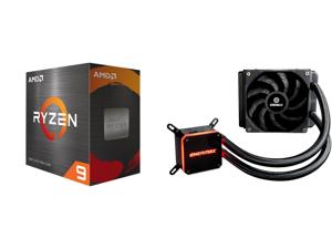 AMD Ryzen 9 5950X - Ryzen 9 5000 Series Vermeer (Zen 3) 16-Core 3.4 GHz Socket AM4 105W Desktop Processor - 100-100000059WOF and Enermax LIQMAX III 120 Performance All-in-one CPU Liquid Cooler for AM4 / LGA1200 120mm Radiator Dual-Chamber W
