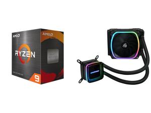 AMD Ryzen 9 5950X - Ryzen 9 5000 Series Vermeer (Zen 3) 16-Core 3.4 GHz Socket AM4 105W Desktop Processor - 100-100000059WOF and Enermax AQUAFUSION 120 Addressable RGB All-in-one CPU Liquid Cooler for AM4 / LGA1200 120mm Radiator Dual-Chamb
