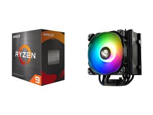 AMD Ryzen 9 5950X - Ryzen 9 5000 Series Vermeer (Zen 3) 16-Core 3.4 GHz Socket AM4 105W Desktop Processor - 100-100000059WOF and Enermax ETS-T50 Axe Addressable RGB CPU Air Cooler 230W+ TDP for Intel/AMD Univeral Socket 5 Direct Contact Hea
