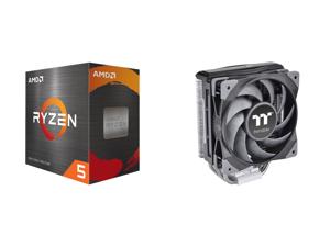 AMD Ryzen 5 5600X - Ryzen 5 5000 Series Vermeer (Zen 3) 6-Core 3.7 GHz Socket AM4 65W Desktop Processor - 100-100000065BOX and Thermaltake TOUGHAIR 310 170W TDP CPU Cooler 120mm 2000RPM High Static Pressure PWM Fan with High Performance Cop