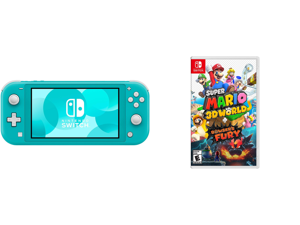 Nintendo Switch Lite - Turquoise and Super Mario 3D World-Bowser's Fury - Nintendo Switch