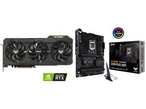 ASUS TUF Gaming GeForce RTX 3070 Ti 8GB GDDR6X PCI Express 4.0 Video Card TUF-RTX3070TI-O8G-GAMING and ASUS TUF GAMING Z590-PLUS WIFI LGA 1200 Intel Z590 SATA 6Gb/s ATX Intel Motherboard