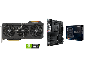 ASUS TUF Gaming GeForce RTX 3070 Ti 8GB GDDR6X PCI Express 4.0 Video Card TUF-RTX3070TI-O8G-GAMING and ASUS AMD AM4 PRO WS X570-ACE ATX Workstation Motherboard with 3 PCIe 4.0 x16 Realtek and Intel Gigabit LAN DDR4 ECC Memory Support Dual M