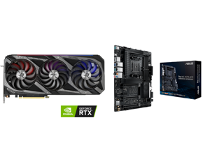ASUS ROG Strix GeForce RTX 3070 Ti 8GB GDDR6X PCI Express 4.0 Video Card ROG-STRIX-RTX3070TI-O8G-GAMING and ASUS AMD AM4 PRO WS X570-ACE ATX Workstation Motherboard with 3 PCIe 4.0 x16 Realtek and Intel Gigabit LAN DDR4 ECC Memory Support D