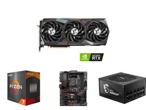 MSI Gaming GeForce RTX 3080 Ti 12GB GDDR6X PCI Express 4.0 Video Card RTX 3080 Ti Gaming X Trio 12G and AMD Ryzen 7 5800X - Ryzen 7 5000 Series Vermeer (Zen 3) 8-Core 3.8 GHz Socket AM4 105W Desktop Processor - 100-100000063WOF and MSI MPG