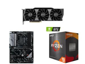 ZOTAC GAMING GeForce RTX 3090 Trinity OC 24GB GDDR6X 384-bit 19.5 Gbps PCIE 4.0 Gaming Graphics Card IceStorm 2.0 Advanced Cooling SPECTRA 2.0 RGB Lighting ZT-A30900J-10P and ASRock X570 PHANTOM GAMING 4 AM4 AMD X570 SATA 6Gb/s ATX AMD Moth