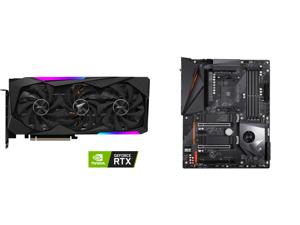 GIGABYTE AORUS GeForce RTX 3070 MASTER 8GB GDDR6 PCI Express 4.0 ATX Video Card GV-N3070AORUS M-8GD (rev. 2.0) (LHR) and GIGABYTE X570 AORUS PRO WIFI AMD Ryzen 3000 PCIe 4.0 SATA 6Gb/s USB 3.2 AMD X570 ATX Motherboard