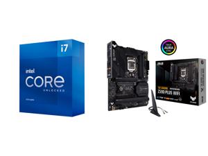 Intel Core i7-11700K - Core i7 11th Gen Rocket Lake 8-Core 3.6 GHz LGA 1200 125W Intel UHD Graphics 750 Desktop Processor - BX8070811700K and ASUS TUF GAMING Z590-PLUS WIFI LGA 1200 Intel Z590 SATA 6Gb/s ATX Intel Motherboard