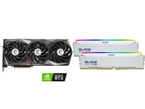 MSI Gaming GeForce RTX 3070 8GB GDDR6 PCI Express 4.0 Video Card 3070 GAMING Z TRIO 8G LHR and OLOy Blade RGB 32GB (2 x 16GB) 288-Pin DDR4 SDRAM DDR4 3200 (PC4 25600) Desktop Memory Model ND4U1632162BRWDE