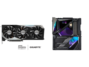 GIGABYTE Radeon RX 6800 XT GAMING OC 16G Graphics Card WINDFORCE 3X Cooling System 16GB 256-bit GDDR6 GV-R68XTGAMING OC-16GD Video Card Powered by AMD RDNA 2 HDMI 2.1 and GIGABYTE Z590 AORUS XTREME WATERFORCE (Z590 AORUS XTREME WB) LGA 1200