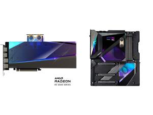 GIGABYTE AORUS Radeon RX 6900 XT 16GB GDDR6 PCI Express 4.0 ATX Video Card GV-R69XTAORUSX WB-16GD and GIGABYTE Z590 AORUS XTREME WATERFORCE (Z590 AORUS XTREME WB) LGA 1200 Intel Z590 Extended ATX Motherboard with Triple M.2 PCIe 4.0 Intel W