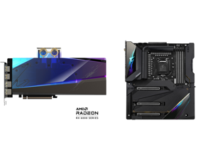 GIGABYTE AORUS Radeon RX 6900 XT 16GB GDDR6 PCI Express 4.0 ATX Video Card GV-R69XTAORUSX WB-16GD and GIGABYTE Z590 AORUS XTREME LGA 1200 Intel Z590 SATA 6Gb/s Extended ATX Intel Motherboard