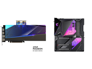 GIGABYTE AORUS Radeon RX 6900 XT 16GB GDDR6 PCI Express 4.0 ATX Video Card GV-R69XTAORUSX WB-16GD and GIGABYTE Z490 AORUS XTREME WATERFORCE LGA 1200 Intel Z490 E-ATX Motherboard with Triple M.2 SATA 6Gb/s USB 3.2 Gen 2 WIFI 6 10 GbE LAN Dua