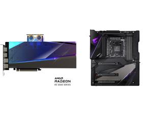 GIGABYTE AORUS Radeon RX 6900 XT 16GB GDDR6 PCI Express 4.0 ATX Video Card GV-R69XTAORUSX WB-16GD and GIGABYTE Z490 AORUS XTREME LGA 1200 Intel Z490 E-ATX Motherboard with Triple M.2 SATA 6Gb/s USB 3.2 Gen 2 WIFI 6 10 GbE LAN Dual Thunderbo