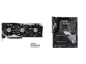 GIGABYTE AMD Radeon RX 6800 XT GAMING 16G Graphics Card WINDFORCE 3X Cooling System 16GB 256-bit GDDR6 GV-R68XTGAMING-16GD Video Card and GIGABYTE Z590 AORUS ULTRA LGA 1200 Intel Z590 SATA 6Gb/s ATX Intel Motherboard