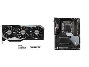 GIGABYTE Radeon RX 6800 XT GAMING OC 16G Graphics Card WINDFORCE 3X Cooling System 16GB 256-bit GDDR6 GV-R68XTGAMING OC-16GD Video Card Powered by AMD RDNA 2 HDMI 2.1 and GIGABYTE Z590 AORUS ULTRA LGA 1200 Intel Z590 SATA 6Gb/s ATX Intel Mo