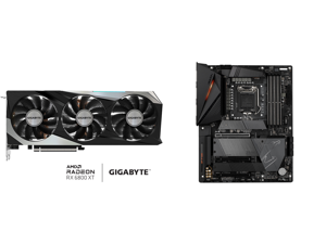 GIGABYTE Radeon RX 6800 XT GAMING OC 16G Graphics Card WINDFORCE 3X Cooling System 16GB 256-bit GDDR6 GV-R68XTGAMING OC-16GD Video Card Powered by AMD RDNA 2 HDMI 2.1 and GIGABYTE Z590 AORUS PRO AX LGA 1200 Intel Z590 ATX Motherboard with 4