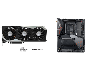 GIGABYTE Radeon RX 6800 GAMING OC 16G Graphics Card WINDFORCE 3X Cooling System 16GB 256-bit GDDR6 GV-R68GAMING OC-16GD Video Card Powered by AMD RDNA 2 HDMI 2.1 and GIGABYTE Z590 AORUS MASTER LGA 1200 Intel Z590 ATX Motherboard with Triple