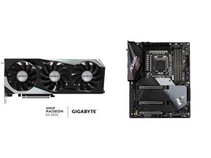 GIGABYTE Radeon RX 6800 GAMING OC 16G Graphics Card WINDFORCE 3X Cooling System 16GB 256-bit GDDR6 GV-R68GAMING OC-16GD Video Card Powered by AMD RDNA 2 HDMI 2.1 and GIGABYTE Z590 AORUS ULTRA LGA 1200 Intel Z590 SATA 6Gb/s ATX Intel Motherb