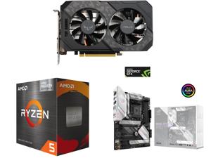 ASUS TUF Gaming GeForce GTX 1660 Ti EVO OC Edition 6GB GDDR6 PCI Express 3.0 Video Card TUF-GTX1660TI-O6G-EVO-GAMING and AMD Ryzen 5 5600G - Ryzen 5 5000 G-Series Cezanne (Zen 3) 6-Core 3.9 GHz Socket AM4 65W AMD Radeon Graphics Desktop Pro