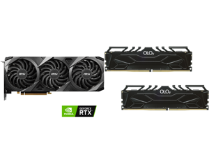 MSI Ventus GeForce RTX 3070 Ti 8GB GDDR6X PCI Express 4.0 Video Card RTX 3070 Ti Ventus 3X 8G OC and OLOy 32GB (2 x 16GB) 288-Pin DDR4 SDRAM DDR4 3000 (PC4 24000) Desktop Memory Model MD4U163016CGDA