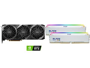 MSI Ventus GeForce RTX 3070 Ti 8GB GDDR6X PCI Express 4.0 Video Card RTX 3070 Ti Ventus 3X 8G OC and OLOy Blade RGB 32GB (2 x 16GB) 288-Pin DDR4 SDRAM DDR4 3200 (PC4 25600) Desktop Memory Model ND4U1632162BRWDE