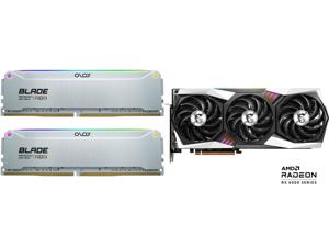 OLOy Blade RGB 32GB (2 x 16GB) 288-Pin DDR4 SDRAM DDR4 4000 (PC4 32000) Desktop Memory Model ND4U1640150BRADE and MSI Gaming Radeon RX 6800 16GB GDDR6 PCI Express 4.0 CrossFireX Support Video Card RX 6800 GAMING X TRIO 16G