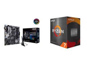 ASUS PRIME B550M-A (WI-FI) AM4 Micro ATX AMD Motherboard and AMD Ryzen 7 5800X - Ryzen 7 5000 Series Vermeer (Zen 3) 8-Core 3.8 GHz Socket AM4 105W Desktop Processor - 100-100000063WOF