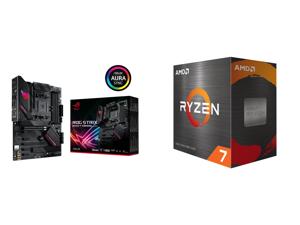 ASUS ROG STRIX B550-F GAMING (WI-FI) AM4 ATX AMD Motherboard and AMD Ryzen 7 5800X - Ryzen 7 5000 Series Vermeer (Zen 3) 8-Core 3.8 GHz Socket AM4 105W Desktop Processor - 100-100000063WOF