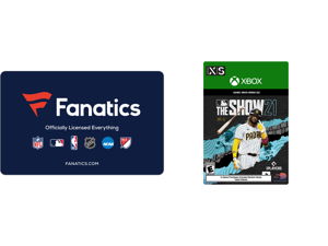 Fanatics $50 Gift Card (Email Delivery) and MLB The Show 21 Series X S Standard Edition [Digital Code]