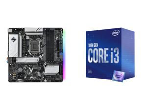 ASRock B560M STEEL LEGEND LGA 1200 Intel B560 SATA 6Gb/s Micro ATX Intel Motherboard and Intel Core i3-10100F - Core i3 10th Gen Comet Lake Quad-Core 3.6 GHz LGA 1200 65W Desktop Processor - BX8070110100F
