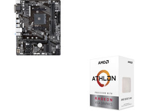 GIGABYTE GA-A320M-S2H AM4 AMD A320 SATA 6Gb/s USB 3.1 HDMI Micro ATX AMD Motherboard and AMD Athlon 3000G Picasso (Zen+) 3.5GHz Dual-Core Unlocked OC AM4 Processor with Vega 3 Graphics