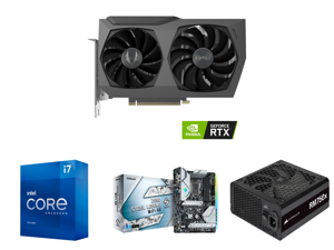 ZOTAC GAMING GeForce RTX 3070 Twin Edge OC LHR 8GB GDDR6 256-bit 14 Gbps PCIE 4.0 Gaming Graphics Card IceStorm 2.0 Advanced Cooling White LED Logo Lighting ZT-A30700H-10PLHR and Intel Core i7-11700K - Core i7 11th Gen Rocket Lake 8-Core 3.