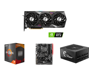 MSI Gaming GeForce RTX 3070 Ti 8GB GDDR6X PCI Express 4.0 Video Card RTX 3070 Ti Gaming X Trio 8G and AMD Ryzen 7 5800X - Ryzen 7 5000 Series Vermeer (Zen 3) 8-Core 3.8 GHz Socket AM4 105W Desktop Processor - 100-100000063WOF and MSI B450 T