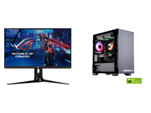 """ASUS ROG Strix 27"""" 1440P HDR Gaming Monitor (XG27AQM) - QHD (2560 x 1440) Fast IPS 270Hz 0.5ms Extreme Low Motion Blur Sync G-SYNC Compatible DisplayHDR 400 Eye Care DisplayPort HDMI USB 3.0 and MEK HERO G1 A5837 Gaming Desktop Powered By Z"""