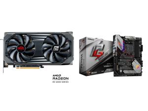 PowerColor RED DEVIL Radeon RX 6600 XT 8GB GDDR6 PCI Express 4.0 ATX Video Card 6600XT 8GBD6-3DHE/OC and ASRock Phantom Gaming B550 PG VELOCITA AM4 AMD B550 SATA 6Gb/s ATX AMD Motherboard