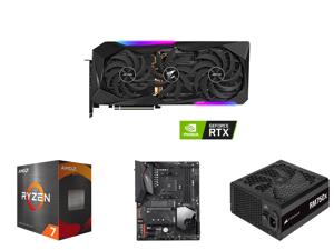 GIGABYTE AORUS GeForce RTX 3070 Ti 8GB GDDR6X PCI Express 4.0 ATX Video Card GV-N307TAORUS M-8GD and AMD Ryzen 7 5800X - Ryzen 7 5000 Series Vermeer (Zen 3) 8-Core 3.8 GHz Socket AM4 105W Desktop Processor - 100-100000063WOF and GIGABYTE X5