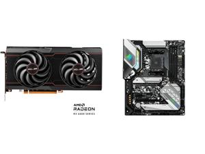 SAPPHIRE Pulse Radeon RX 6600 XT 8GB GDDR6 PCI Express 4.0 ATX Video Card 11309-03-20G and ASRock B550 STEEL LEGEND AM4 AMD B550 SATA 6Gb/s ATX AMD Motherboard