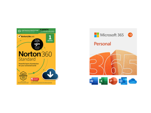 Norton 360 Standard - Antivirus Software for 1 Devices with Auto Renewal - 15 Month Subscription - 3 Months FREE - Includes VPN PC Cloud Backup Dark Web Monitoring Powered by LifeLock and Microsoft 365 Personal   15-Month Subscription 1 per