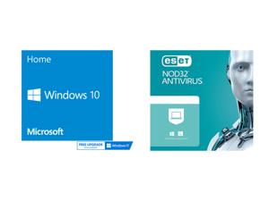 Windows 10 Home - 64-bit - OEM and ESET NOD32 Antivirus 1 Year 1 Device
