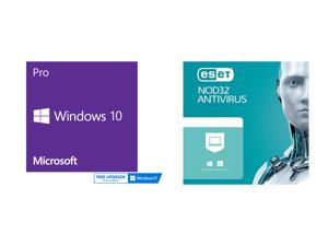 Windows 10 Pro 64-bit - OEM and ESET NOD32 Antivirus 1 Year 1 Device