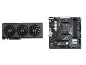SAPPHIRE PULSE AMD Radeon RX 6800 XT Gaming Graphics Card with 16GB GDDR6 AMD RDNA 2 (SKU#11304-03-20G) and ASRock B450M/AC R2.0 AM4 AMD Promontory B450 SATA 6Gb/s Micro ATX AMD Motherboard