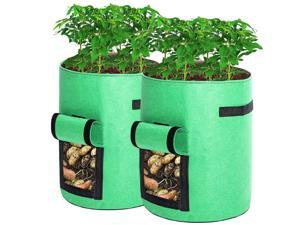Guierus 7 Gallon Plant Grow Bags Set of 2 for Planting a Variety of Vegetables