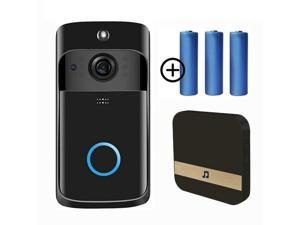 WiFi Video Doorbell Camera, Wireless Doorbell Camera with Chime, 720P HD, 2-Way Audio, Motion Detection, IP65 Waterproof Night Vision