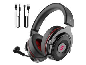 EKSA E900 Pro Gaming Headset with Detachable Microphone 7.1 Surround Sound Headset Gamer USB/3.5mm Wired Headphones For PC PS4 Xbox one Earphones(Black)