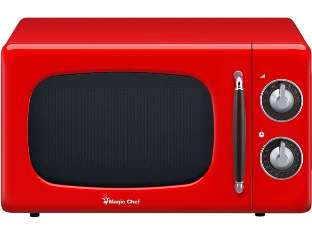 Magic Chef 0.7-Cu. Ft. 700W Retro Countertop Microwave Oven, Red MCD770CR photo