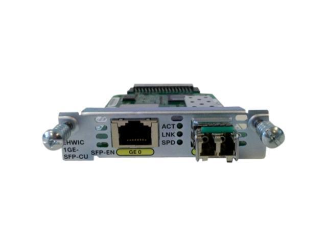 Cisco EHWIC-1GE-SFP-CU Gigabit Ethernet Enhanced High-Speed WAN Interface Card Faceplate photo