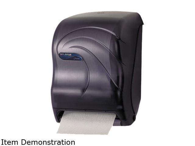 San Jamar T1390TBK Electronic Touchless Roll Towel Dispenser, 11 3/4 x 9 x 15 1/2, Black photo